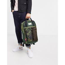 Levi's – Backpack mit Military-Muster und zwei Außentaschen-Grün