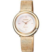 CITIZEN Uhr 'EM0643-84X' gold / weiß