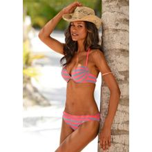VENICE BEACH Push-up-Bikini grau / pink