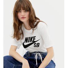Nike SB - Logo T-Shirt in Weiß - Weiß