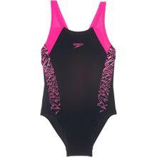 SPEEDO Badeanzug 'BOOM SPLICE' pink / schwarz