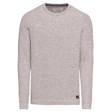 TOM TAILOR DENIM Pullover 'Grindel' taupe / bordeaux