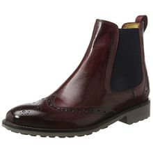 Melvin & Hamilton Damen Amelie 5 Chelsea Boots, Rot (Crust Burgundy, Ela. Navy, Rook D Grey), 37 EU