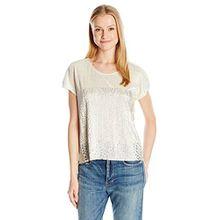 Desigual Damen T-Shirts TS_Lolas, Grau (Gris Plata 2015), Large