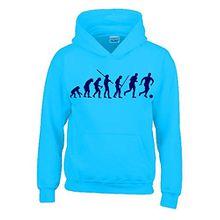 FUSSBALL Evolution Kinder Sweatshirt mit Kapuze HOODIE sky-navy, Gr.152cm