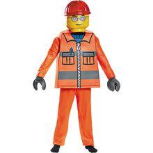 Kostüm LEGO Bauarbeiter Deluxe, 5-tlg.