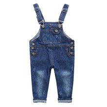 De feuilles Baby Jungen Mädchen Latzhose Kleinkind Jeanshose Jumpsuit Tasche Jeans Hosen Baby Kinder Overall