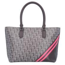 Trussardi Jeans Shopper 'Vaniglia' grau / dunkelgrau / pink