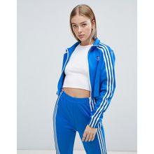 adidas Originals - Blaue Trainingsjacke mit drei Streifen - Blau