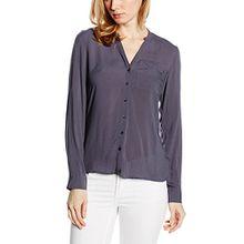 VERO MODA Damen Regular Fit Bluse VMSUNSHINE LS Shirt NOOS, Gr. 36 (Herstellergröße: S), Blau Ombre Blue