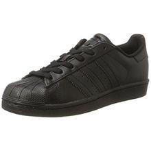 adidas Unisex-Kinder Superstar Foundation Sneaker, Schwarz (Core Black), 36 EU