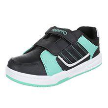 Ital-Design Kinder Schuhe, Ft-3, Freizeitschuhe, Sportliche Sneakers, Synthetik in Hochwertiger Lederoptik, Schwarz Grün, Gr 28