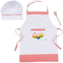 Kochset mit Schürze, Löffel und Mütze