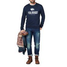 Colorado Denim Olliver - Logo Sweatshirt in dunkelblau