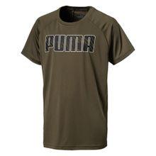 PUMA Funktionsshirt oliv / schwarz