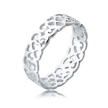Elli Ring Herz Kleeblatt Ornament Cut Out 925 Silber Ringe silber Damen