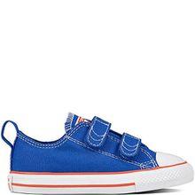 Converse Unisex-Kinder Chuck Taylor CTAS 2v OX Canvas Fitnessschuhe, Blau (Hyper Royal/Bright Poppy/White 483), 24 EU