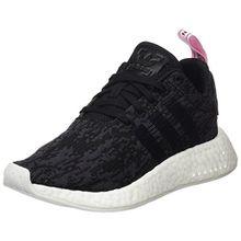 adidas Damen NMD_R2 Sneaker, Schwarz (Core Black/Core Black/Wonder Pink F10), 42 EU