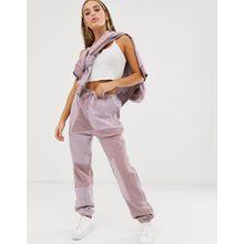 adidas Originals x Danielle Cathari - Trainingshose in Soft Vision mit Deconstructed-Effekt - Violett