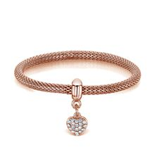 Buckley London Armschmuck Messing rosévergoldet mit KristallenArmbänder rosa Damen