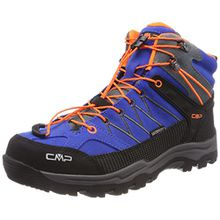 CMP Campagnolo Unisex-Erwachsene Rigel Trekking-& Wanderstiefel, Blau (Zaffiro-Grey-Orange Fluo), 39 EU