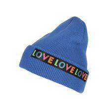 EDC BY ESPRIT Beanie 'Love Turn' blau