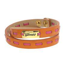 Guess Lederarmband mit Markenemblem UBB21309 Armbänder orange Damen