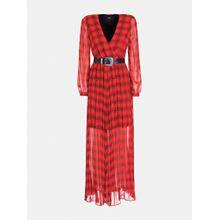 GUESS Kleid rot / schwarz