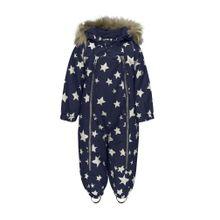 TICKET TO HEAVEN Schneeanzug Baggie m. abnehmbarer Kapuze Jungen / Mädchen Baby beige / nachtblau