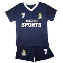 Fußball Trainingsanzug Jungen Top T-Shirt Shorts Kit Set Größe Alter 2-12 Jahre