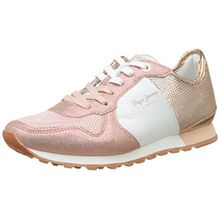 Pepe Jeans London Damen Verona W Sequins Sneaker, Pink (Factory Pink), 41 EU