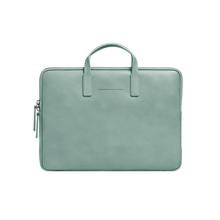 """HORIZN STUDIOS Briefcase Slim 15"""" - Italienisches Leder - Marine Green"""