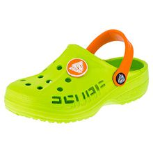 2 Surf Kinder Clogs Badeschuhe Sandalen für Jungen und Mädchen in Vielen Farben M211gnor Grün Orange 25