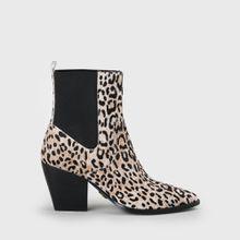 Ferry Ankle-Cowboy-Boot Echtfell Cheetah