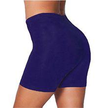 Damen Hautenge Hot Pants Leggings Tanz Radfahren Strumpfhosen Shorts Übergröße - 52/54, Marineblau - Trainingshose