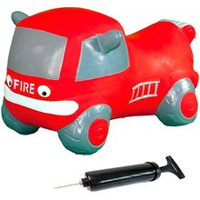 Hüpfauto Fire truck mit Pumpe rot