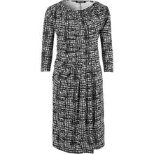 BLUE SEVEN Kleid schwarz/weiß Damen