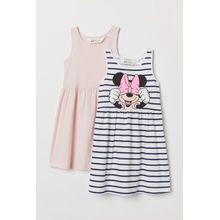 H & M - 2er-Pack Jerseykleider - White - Kinder