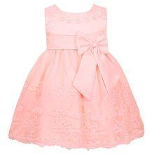 iEFiEL Baby Kleid Mädchen festlich Taufkleider Prinzessin Hochzeit Kleider Blumenmädchenkleider 6-24 Monate, Perle Rosa, 74-80 (Herstellergröße: 6M)