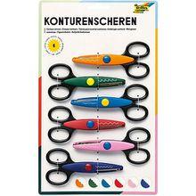 Konturen-Bastelscheren, 6 Stück