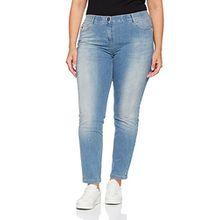 SAMOON Damen Straight Hose Jeans Sonderpassform, Blau (Light Blue Denim 804869), 50