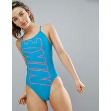 Nike - Badeanzug mit Zierausschnitt - Mehrfarbig