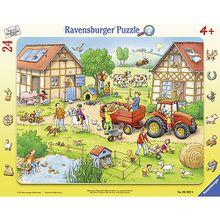 Rahmen-Puzzle, 24 Teile, 32,5x24,5 cm, mit Wimmel-Suchspiel, Mein kleiner Bauernhof