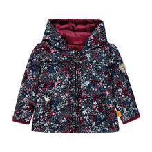STEIFF Jacke ultramarinblau / rosa / dunkelrot / naturweiß