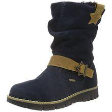 Primigi Mädchen Panky Langschaft Stiefel, Blau (Navy/Senape), 32 EU