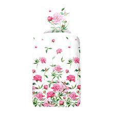 Good morning 4991-A, 135cm Padua bettwäsche mit rosa Blumen, 100 Prozent Baumwolle, 200 x 135 x 0,5 cm