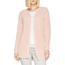 comma Damen Strickjacke 81.803.64.2484, Rosa (Rose 4058), Small