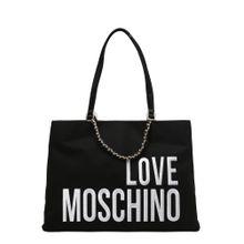 Love Moschino Shopper gold / schwarz / weiß