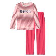 BENCH Pyjama koralle / naturweiß