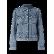Jeansjacke mit Pattentaschen